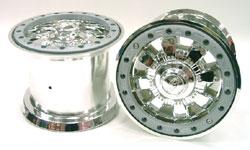 PRO LINE 電鍍雙色崁入式大腳框(銀色)