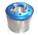 鋁合金切銷兩件式散熱頭(藍色)