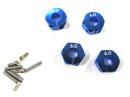 12mm鋁合金夾式六角輪座( 厚度6mm)
