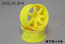 RC-ART EVOLVE GF-R 7爪甩尾輪框(黃色 OFFSET=8mm)
