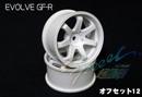RC-ART EVOLVE GF-R 7爪甩尾輪框(白色 OFFSET=12mm)
