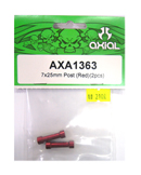 AXIAL AXA1363 鋁合金延伸柱(紅色7X25mm)