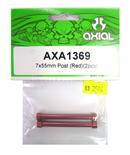 AXIAL AXA1369 鋁合金延伸柱(紅色7X55mm)