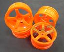 MST 五爪甩尾輪框(螢光橘色 OFFSET=+3mm)
