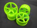 MST 五爪甩尾輪框(螢光綠色 OFFSET=+5mm)