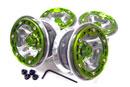 INFINITY 1/10攀岩車用組合式鋁合金輪框(三爪有蓋綠色)
